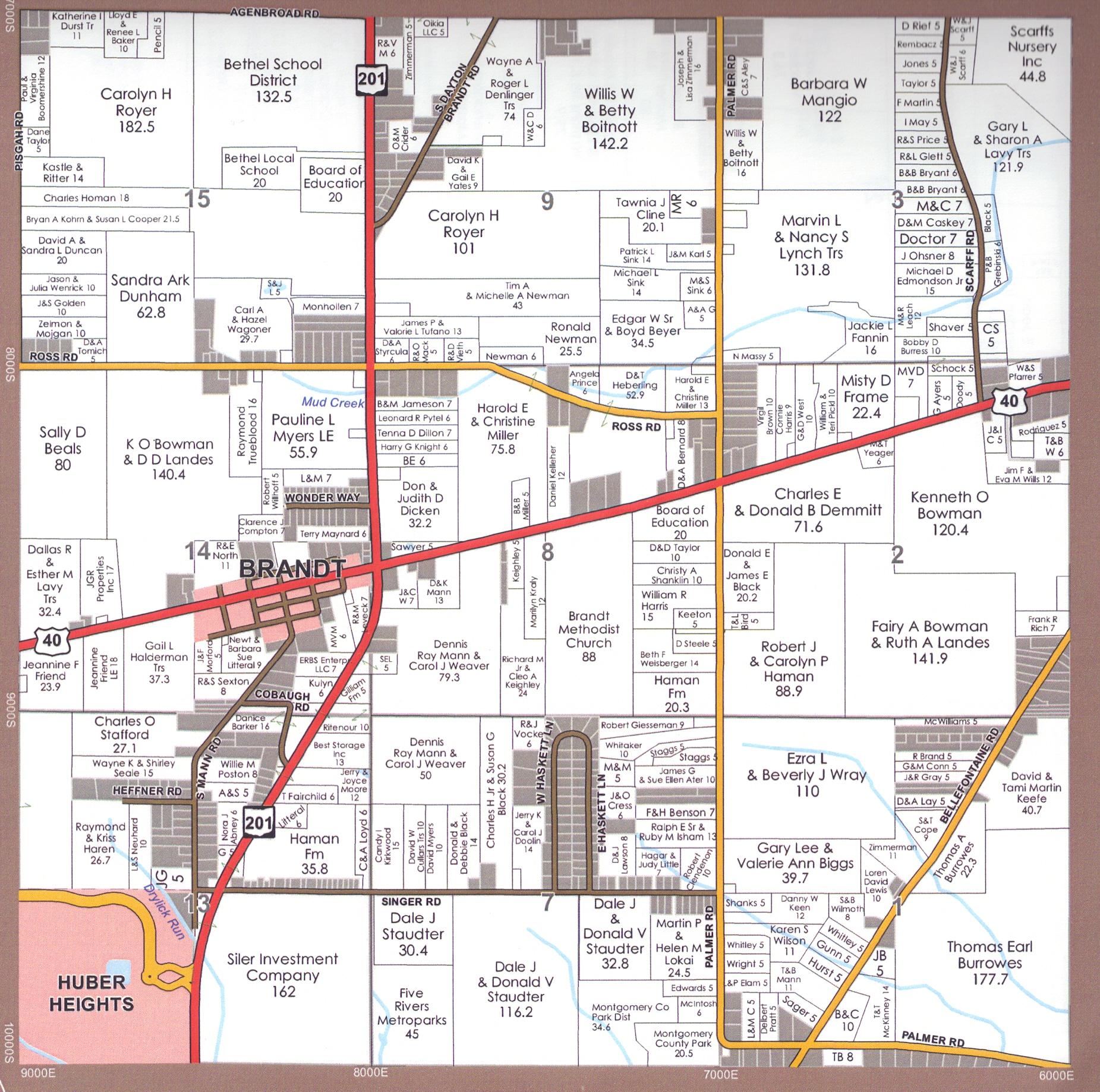 Miami Township Ohio Map.Maps For Bethel Township Miami County Ohio